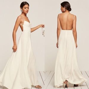 Reformation Thistle Maxi Dress Size 10 in White